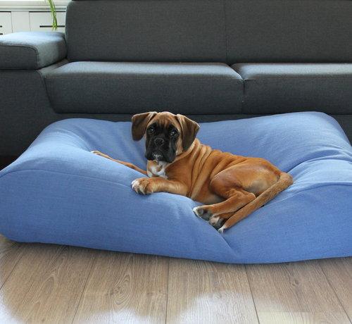 Dog's Companion Dog bed Manhattan blue linen Small