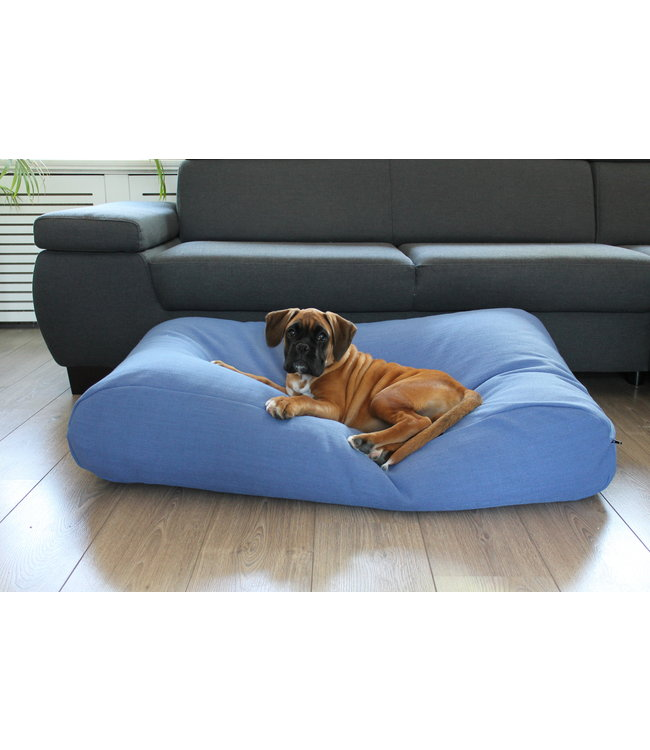 Dog's Companion Hundebett Manhattan Blau Leinen Small