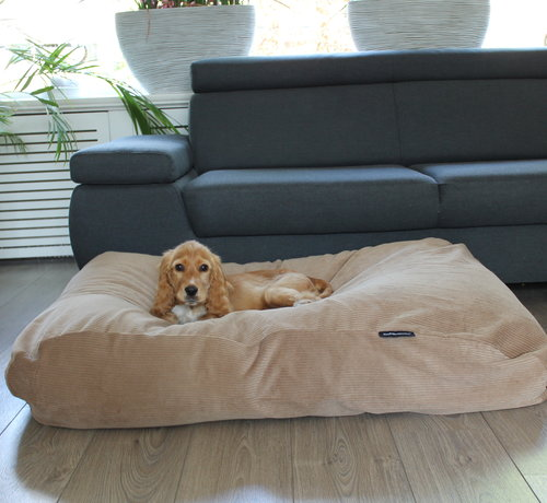 Dog's Companion Hondenbed Camel Ribcord