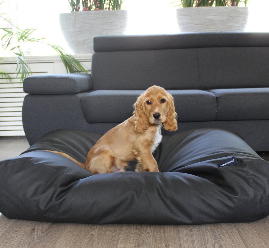 Lit pour chien noir leather look