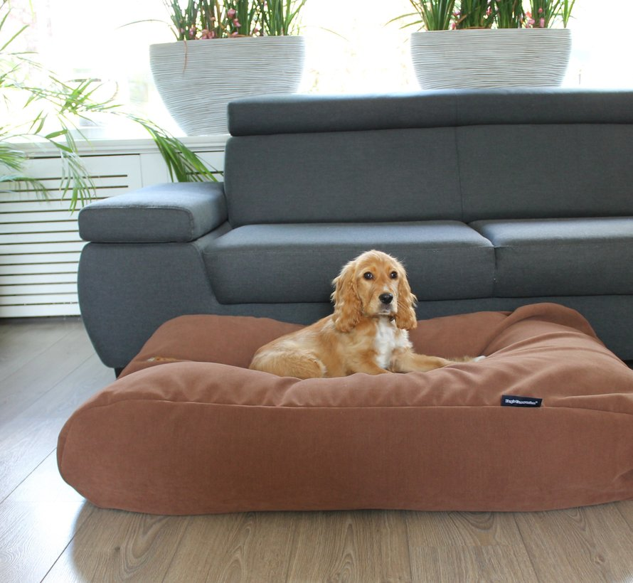 Dog bed Mocha (chenille velours) Small