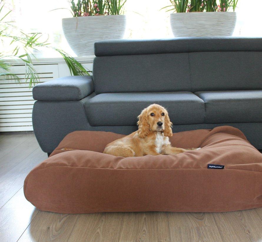Lit pour chien Moka (chenille velours) Small
