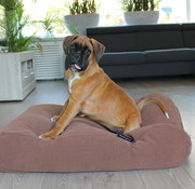 Dog's Companion Dog bed Mocha (chenille velours) Medium