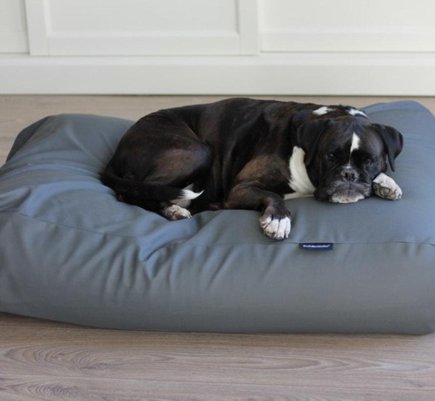 Hoes hondenbed Superlarge muisgrijs leather look