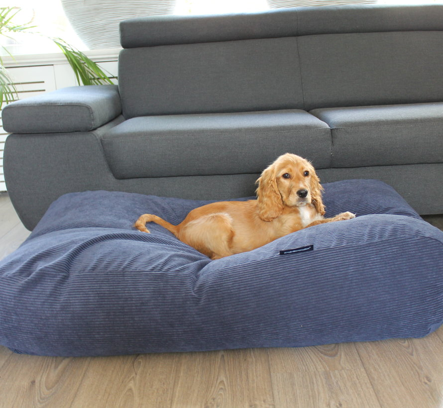 Dog bed blue (Corduroy) Small
