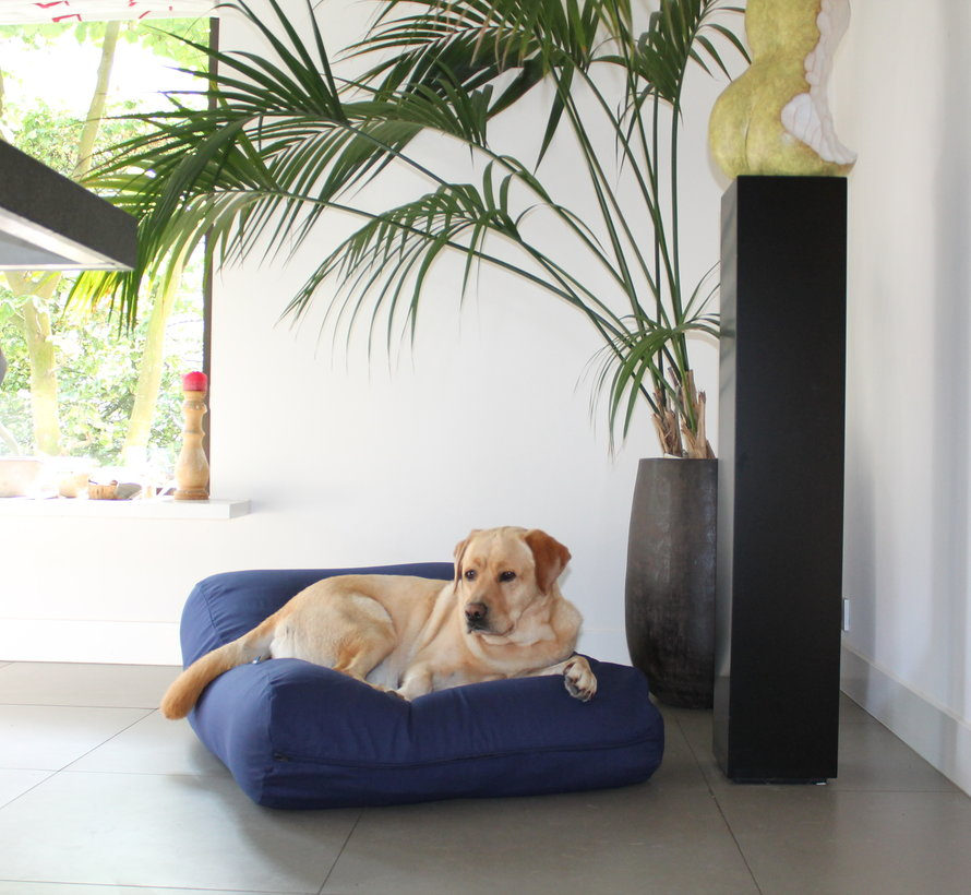 Dog bed dark blue