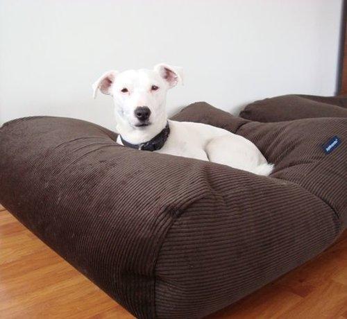 Dog's Companion Hondenbed Chocolade Bruin Ribcord