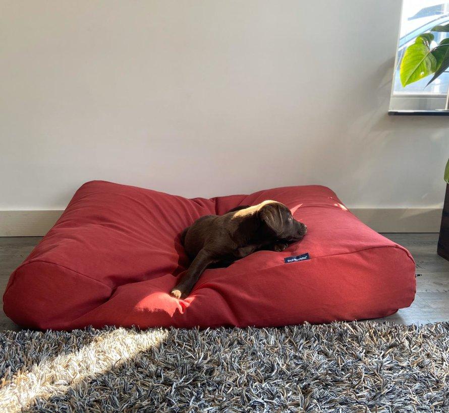 Dog bed Brick-Red Medium