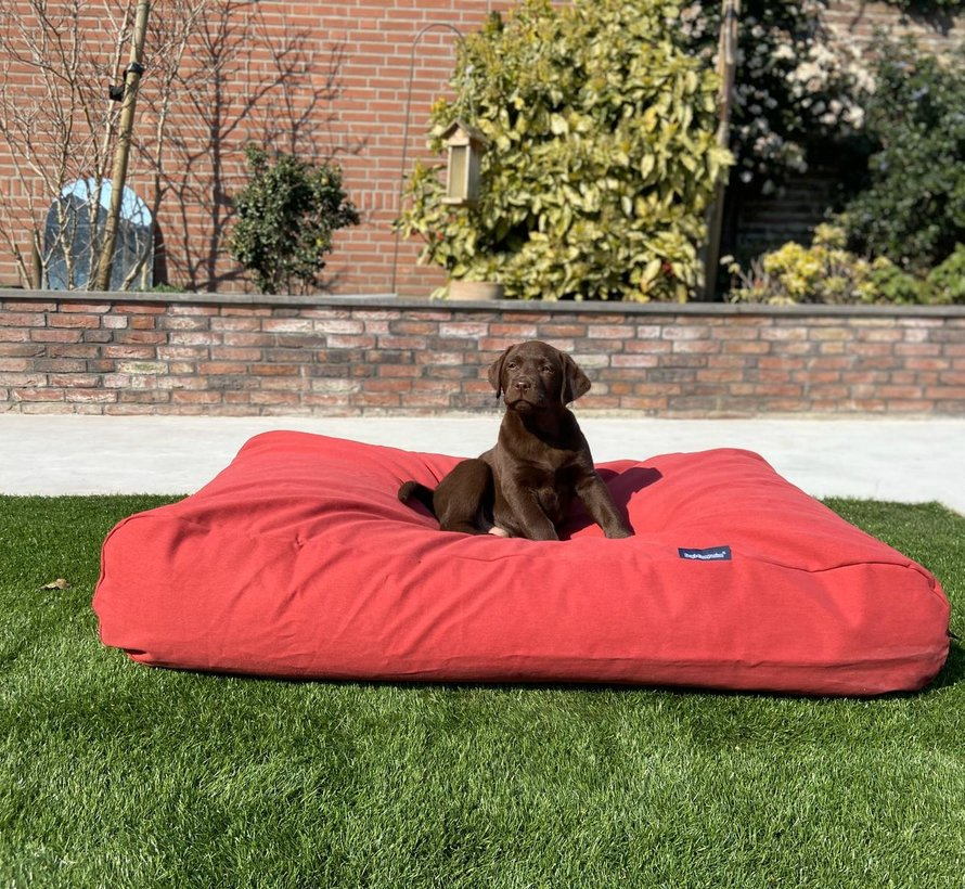 Dog bed Brick-Red Large