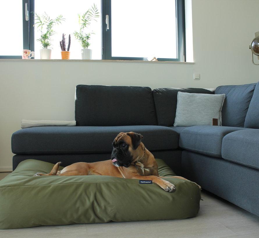 Hondenbed Olijf groen vuilafstotende coating  Medium