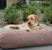 Dog's Companion Hondenbed Taupe Ribcord small