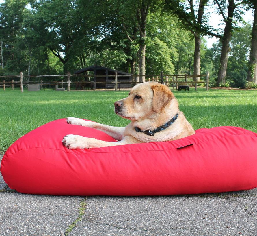 Hondenbed rood vuilafstotende coating small