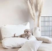 Dog's Companion Dog bed ivory leather look Medium