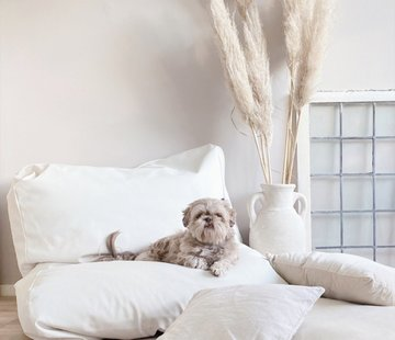 Dog's Companion Dog bed ivory leather look Large