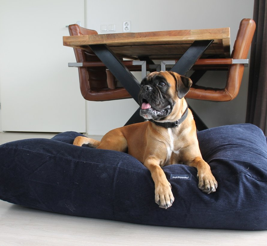 Lit pour chien Bleu foncé (corduroy) Large