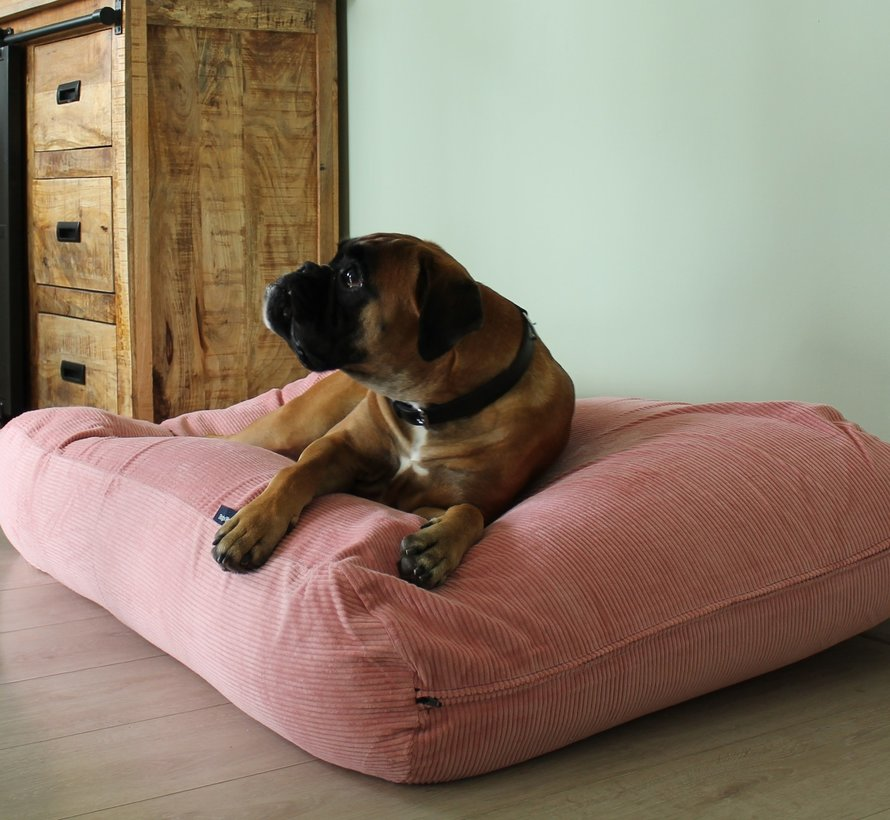 Lit pour chien vieux rose (corduroy) Large