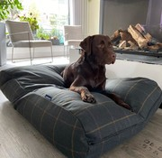 Dog's Companion Pre-order! Hundebett Scottish Tweed Grün