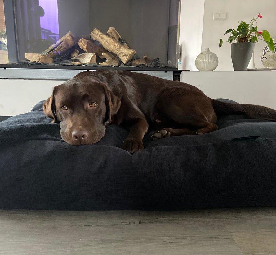 Dog bed Dark Steel Bouclé
