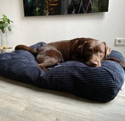 Dog's Companion Dog bed Midnight Blue giant corduroy
