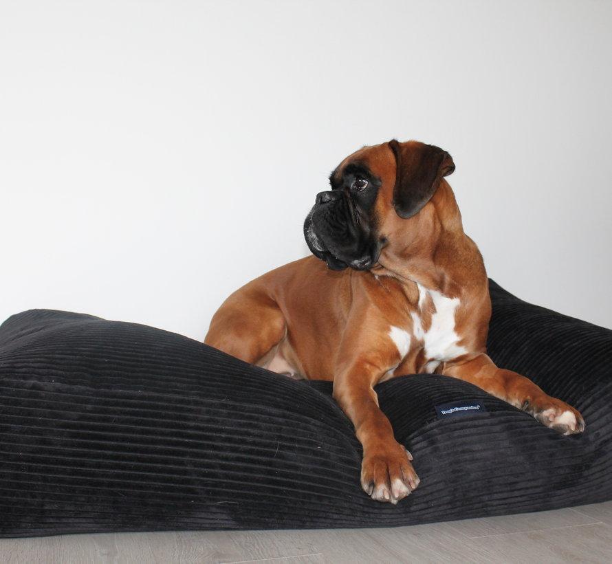 Dog bed Black giant corduroy