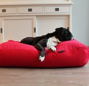 Dog's Companion Dog bed Red Corduroy Small