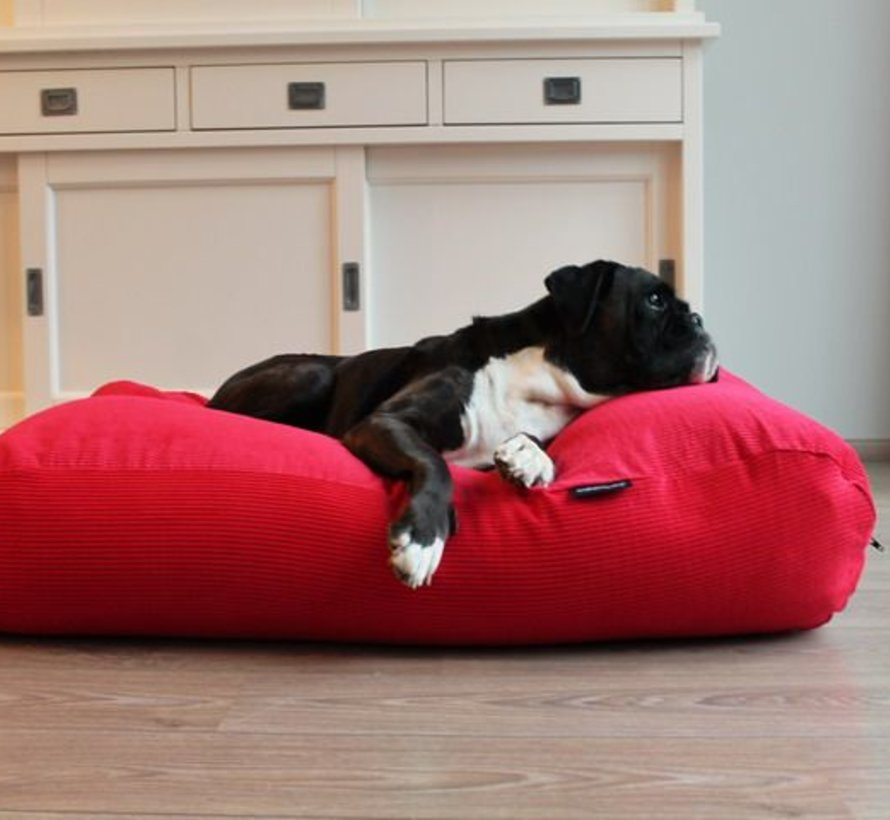 Dog bed Red Corduroy Small