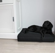 Dog's Companion Dog bed bench cushion black (65 x 50 x 10 cm)