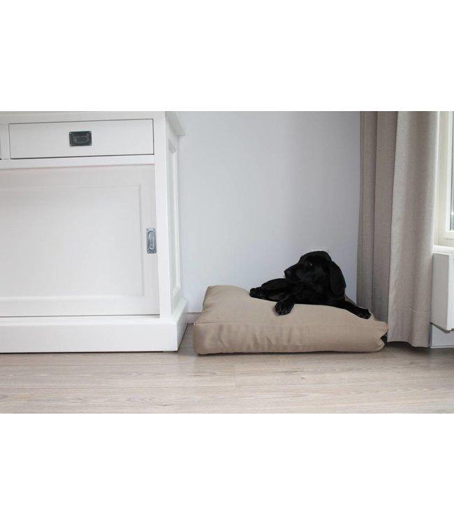 Dog's Companion Hondenbed bench kussen beige (65 x 50 x 10 cm)