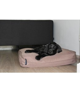 Dog's Companion Hondenbed bench kussen taupe (68 x 62 x 10 cm)