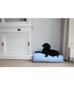 Dog's Companion Dog bed bench cushion light blue (68 x 62 x 10 cm)