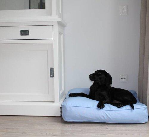 Dog's Companion Dog bed bench cushion light blue (68 x 62 x 10 cm)