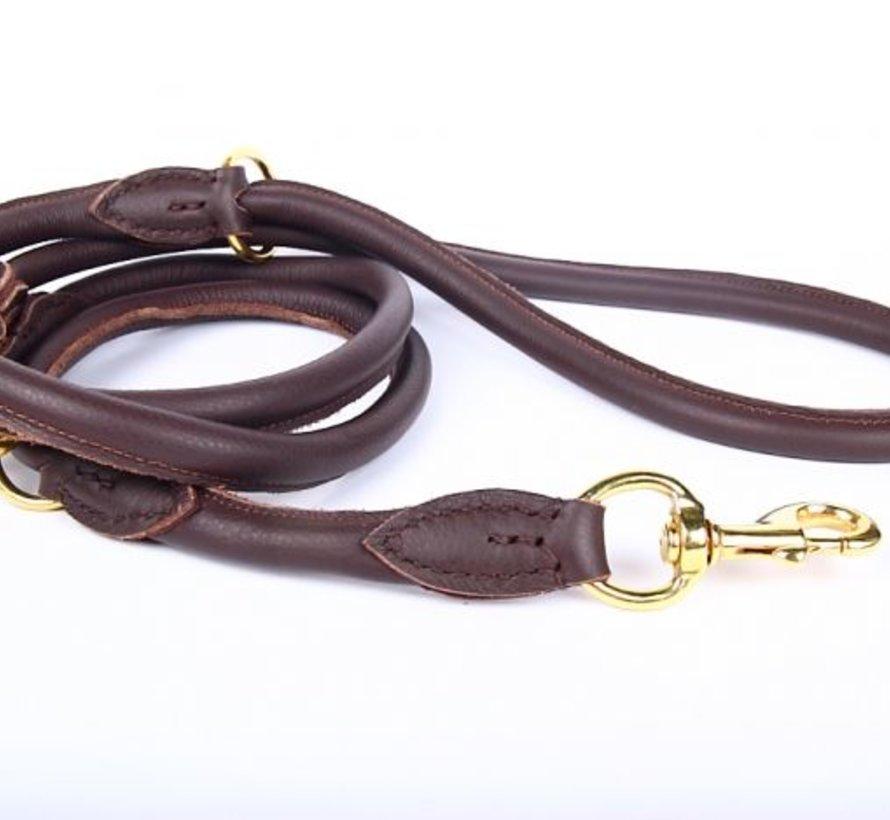 Adjustable leather dog leash (around 220 cm)
