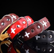 Swiss leather collar