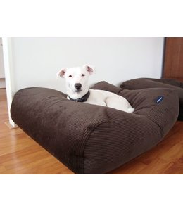 Dog's Companion Hondenbed Chocolade Bruin Ribcord Extra Small