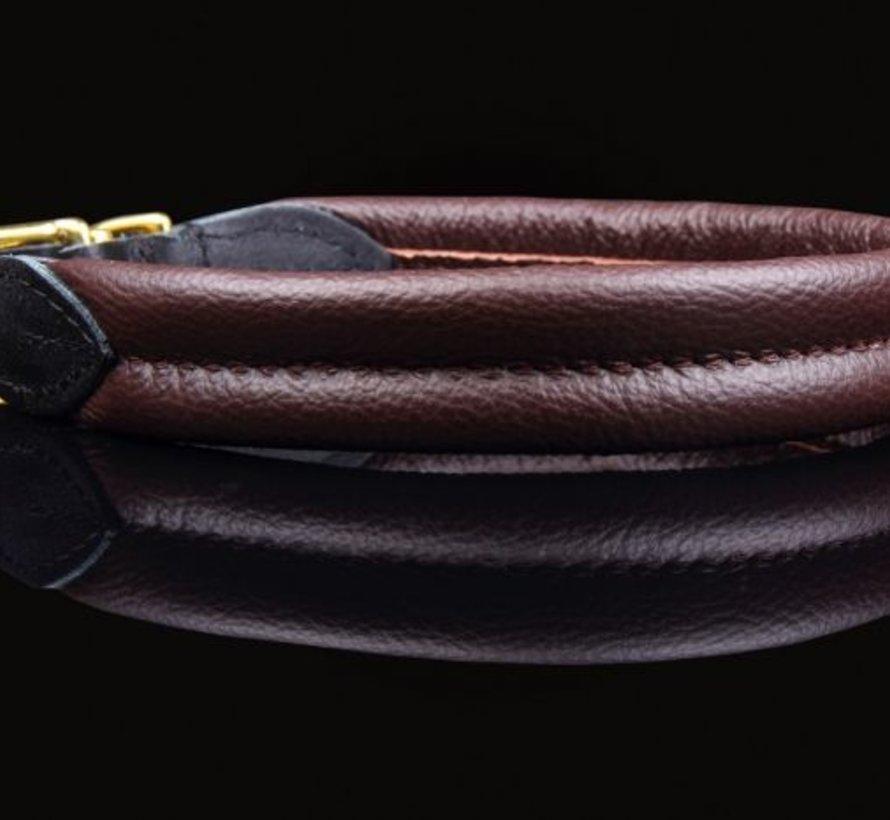 Leather collar soft (brass)