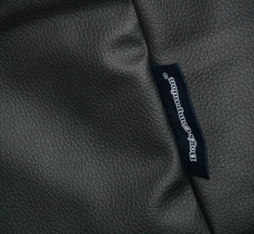 Hondenbed zwart leather look Extra Small