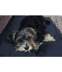 Dog's Companion Hondenbed zwart leather look Medium
