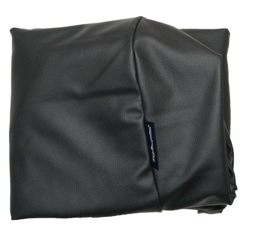 Bezug schwarz leather look Medium