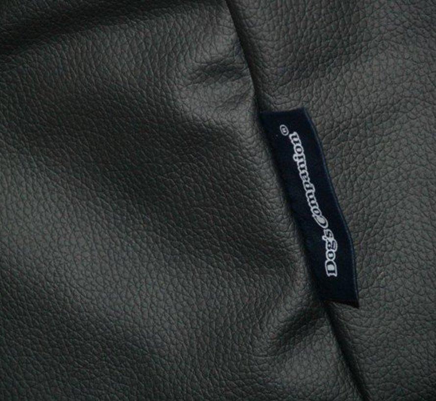 Lit pour chien noir leather look Large