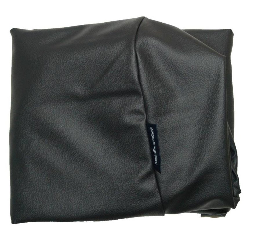 Extra cover black leather look Large