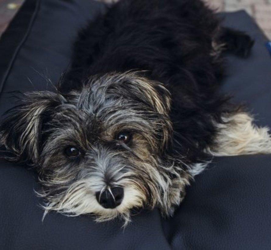Lit pour chien noir leather look Superlarge