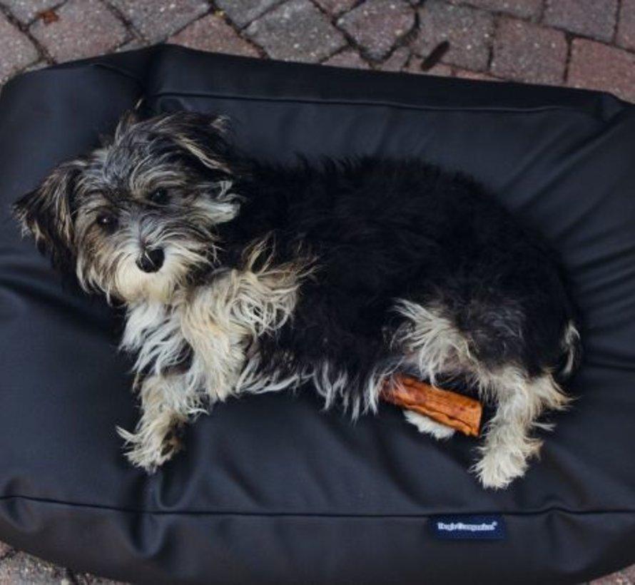 Hondenbed zwart leather look Superlarge