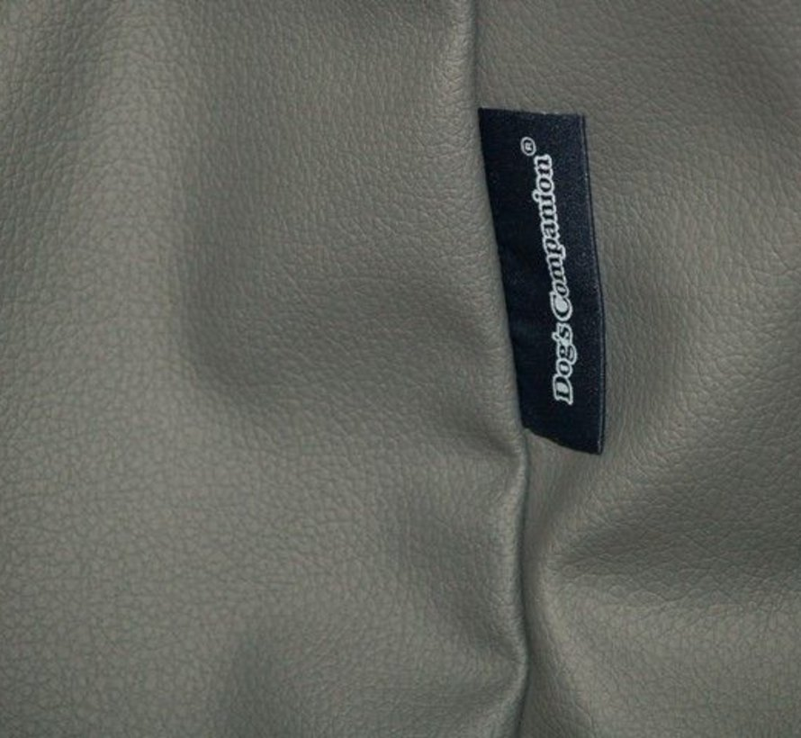 Hondenbed muisgrijs leather look Small