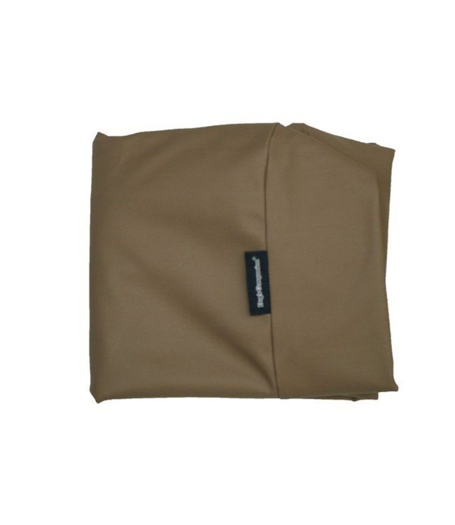 Dog's Companion Hoes hondenbed taupe leather look Small