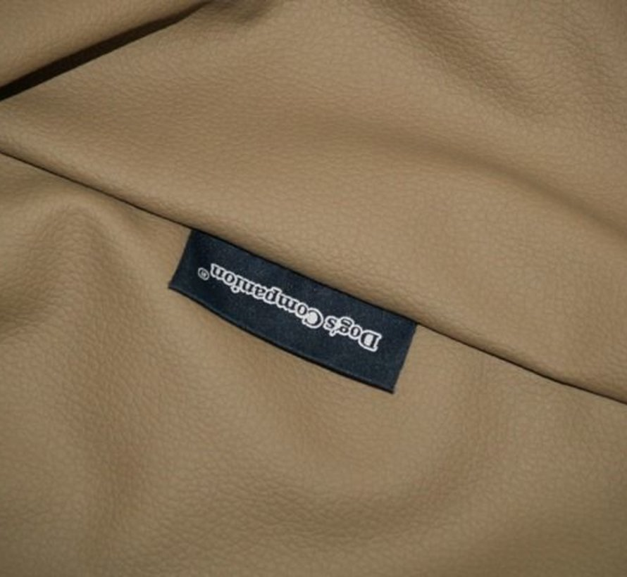 Hoes hondenbed taupe leather look Small