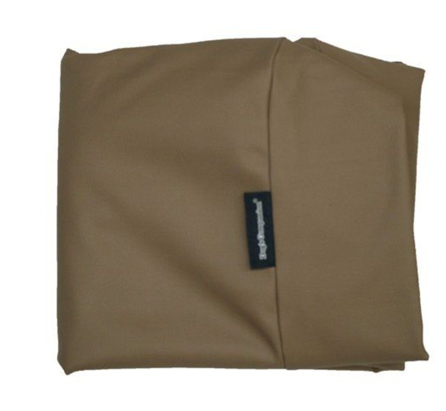 Hoes hondenbed taupe leather look Large