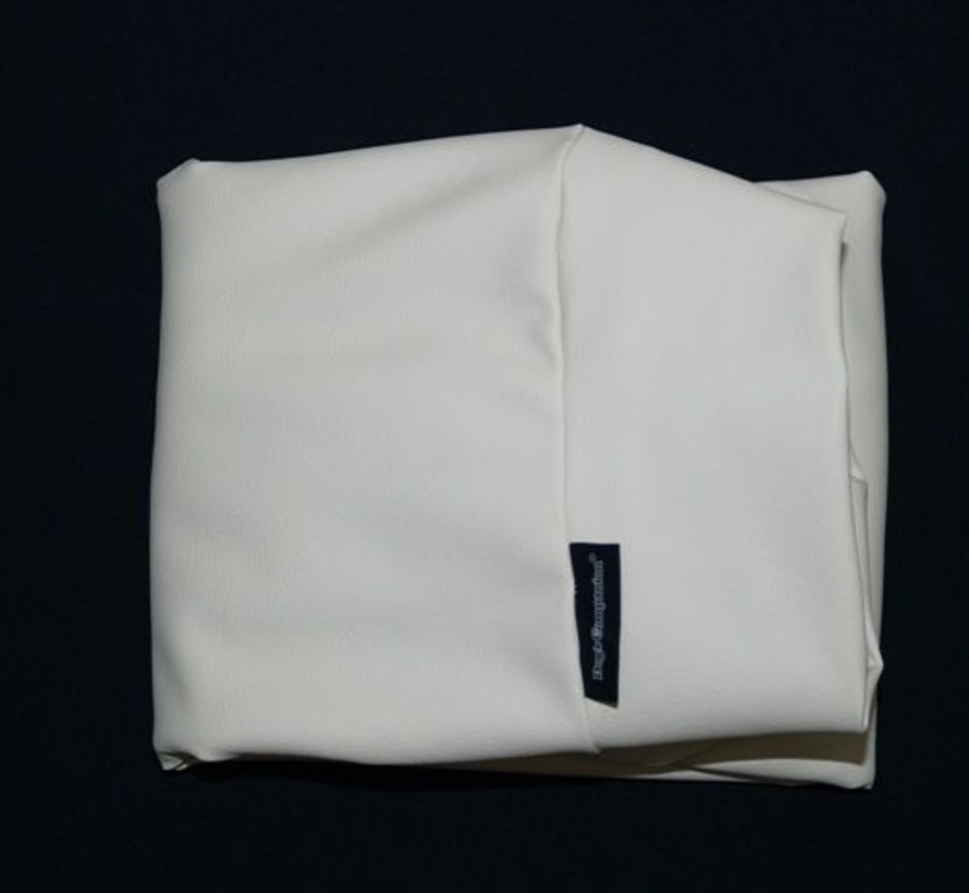 Hoes hondenbed ivory leather look Medium