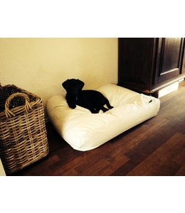 Dog's Companion Hondenbed ivory leather look Large
