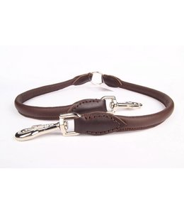 Leather dog coupler leash