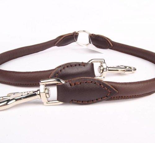 Leather dog coupler leash
